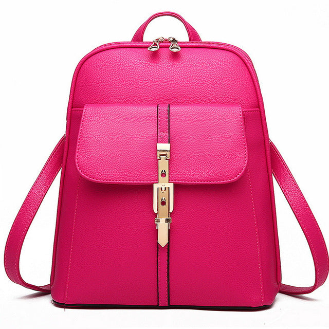 2018 atmosphere vogue women leisure buckle backpack