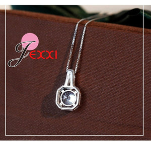 Hot 925 Sterling Silver Necklace And Pendants Jewelry For Women