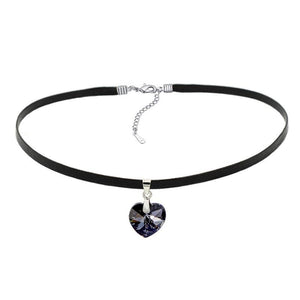 Heart Austria Element Crystals Pendant Choker Necklace