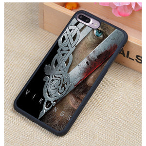 Ragnar Lothbrok Vikings Printed Soft Rubber Case For iPhone 7/7 Plus/6/6S Plus/5/5S/5C/SE/4