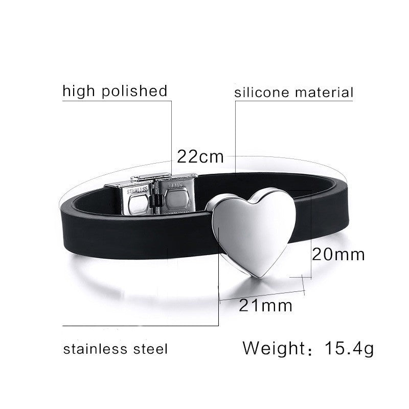Hot Adjustable Size Stainless Steel Heart Bracelet