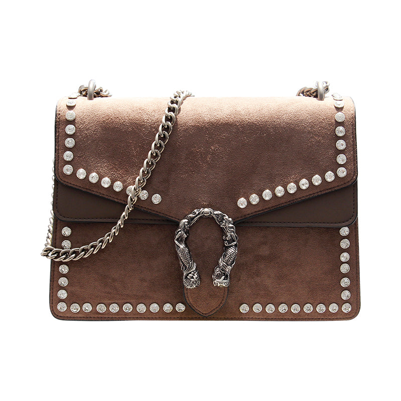 Fashion Rivet Chain Casual Shoulder Messenger Bag