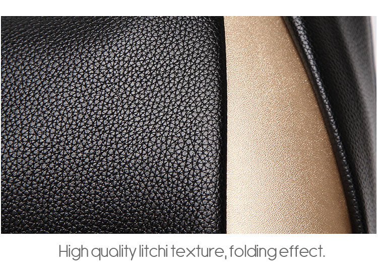 2018 Black Luxury Tote PU Leather Women Handbag