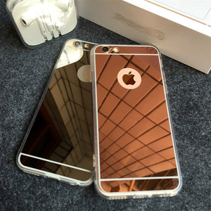 Luxury Mirror Electroplating Soft Cases For iPhone 6 6s 5 5s SE 6Plus 6sPlus X 7 8 Plus