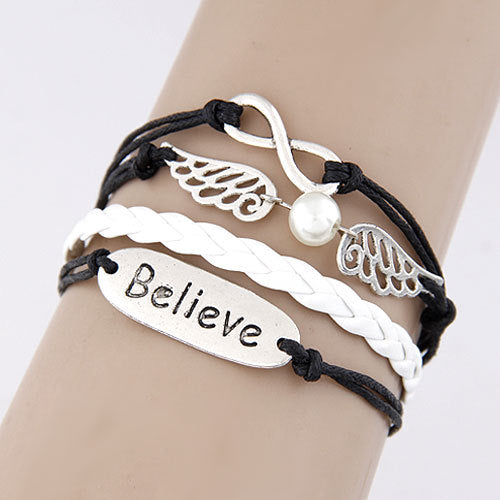 Women Charm Vintage Multilayer Leather Bracelet