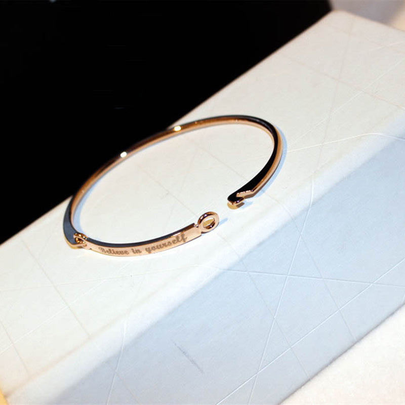 """Believe In Yourself "" Silver\Gold Color Letter Bracelet"