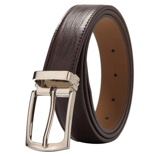 Genuine Leather Pin Buckle BROWN/COFFEE Men Belt