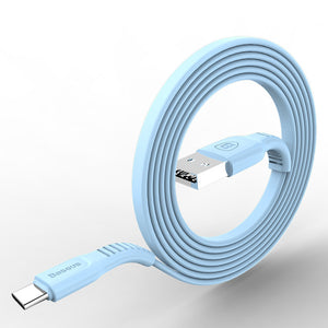 Flat USB Type C Data Transmission & Fast Charging Cable