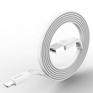 Flat USB Cable For iPhone X 8 7 6 6s Plus 5 5s iPad Fast Charging Data Sync Cables