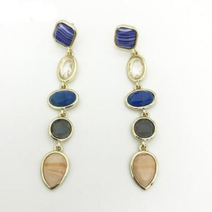 Charming Colorful Resin Long Dangle Earings