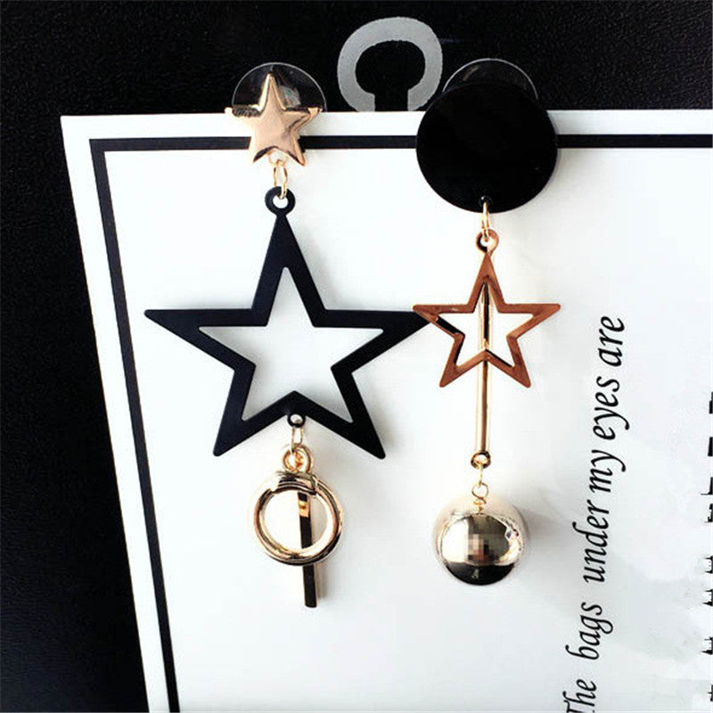 AB Asymmetric Style Stars Long Earings