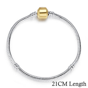 5 Style Silver Color LOVE Snake Chain Bracelet & Bangle 16CM-21CM Pulseras Lobster