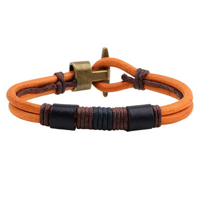 Unisex Handmade Genuine Leather Bracelets