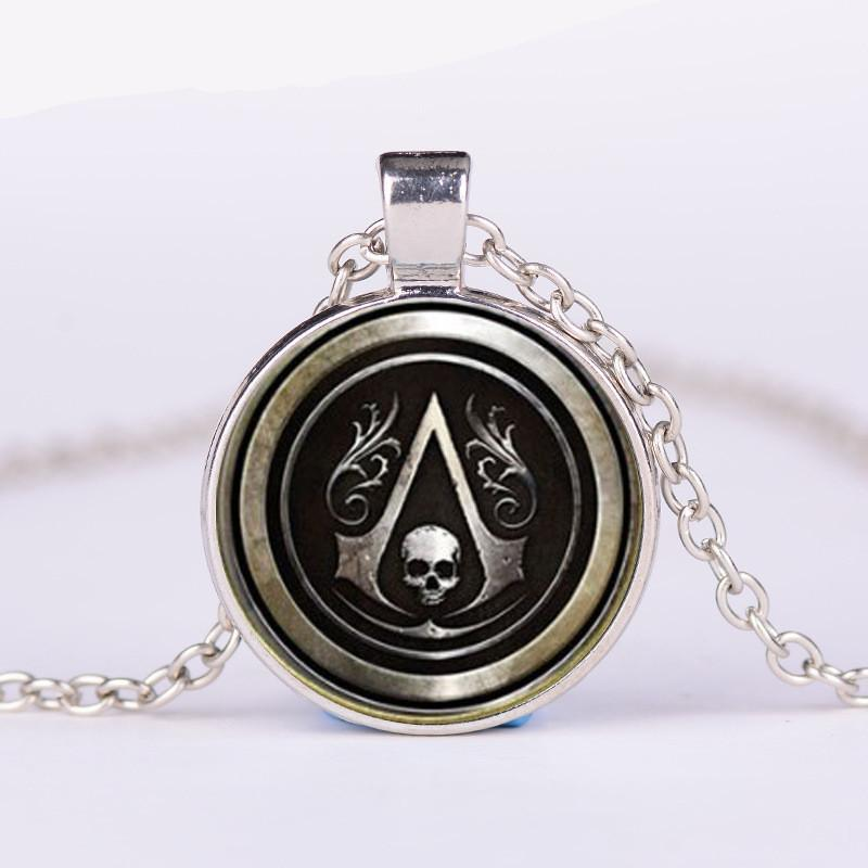 3 Color New Assassin's Creed Necklace Handmade Pendant