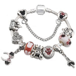 Charm Bracelet with Mickey Enamel Beads