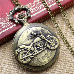 Vintage Old Antique Pendant Pocket Watch With Necklace Chain