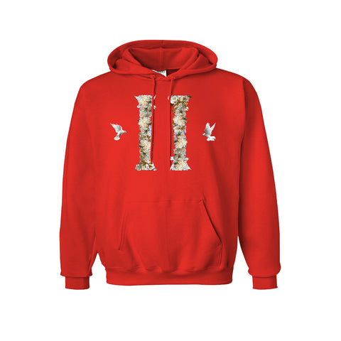 Red Dove Columns Hoodie