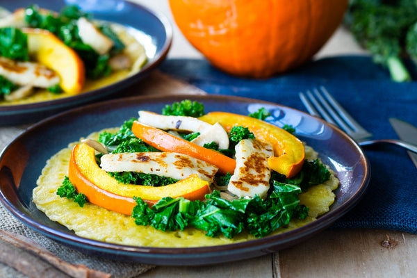 Farinata with Red Kuri Squash and Kale
