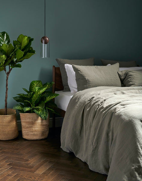 Linen in Moss | Bedfolk