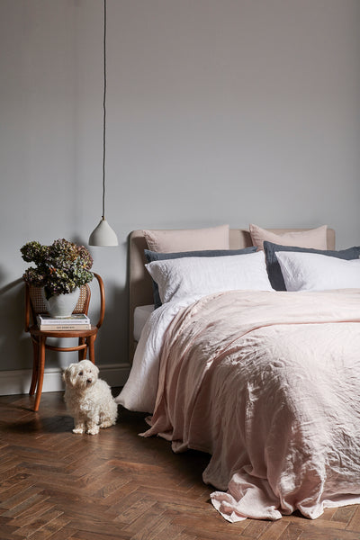 Bedfolk Linen in Pink, White and Blue