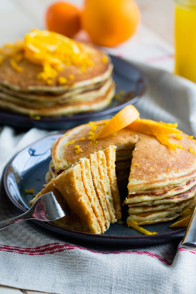 Bedfolk Brunching | Orange & Ricotta Pancakes | Tina Jui - The Worktop
