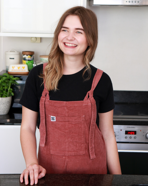Martha Collison in the kitchen at home in Hove