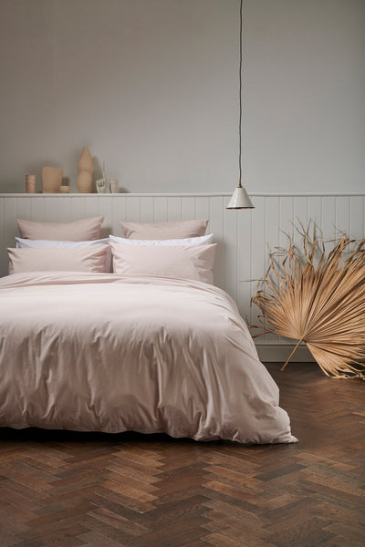 Percale Cotton Bedding in Pink