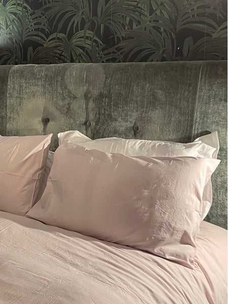 Bedfolk Relaxed Percale soft cotton bedding Rose pink