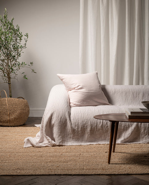 The Linen & Cotton Throw | Rose | Bedfolk