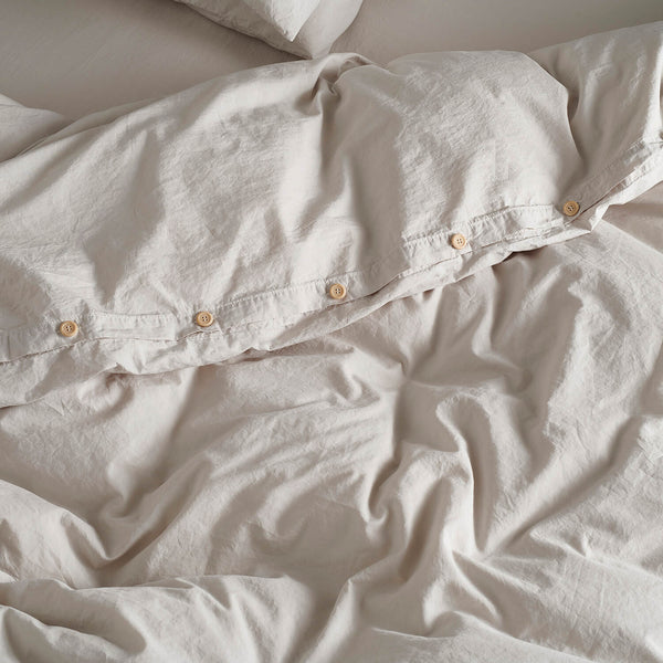Bedfolk Washed Percale Cotton Relaxed Clay