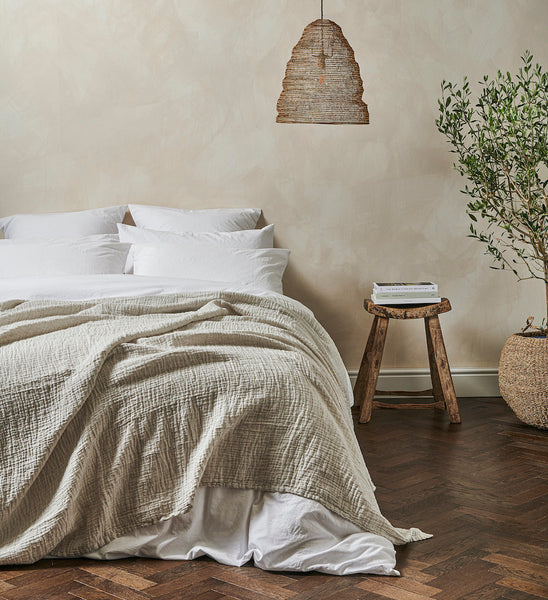 The Linen & Cotton Throw | Clay