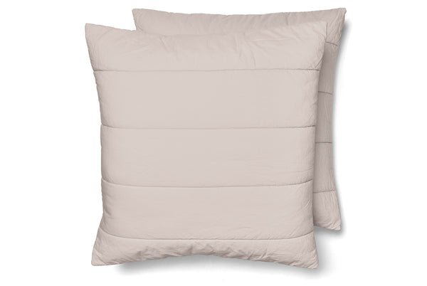 Quilted Cotton Square Pillowcase Pair