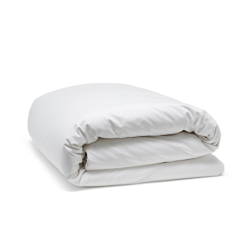 White classic duvet cover, luxury bedding by Bedfolk