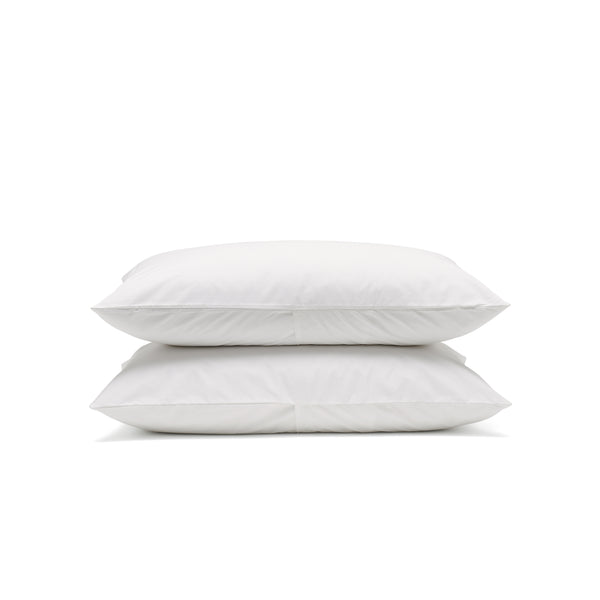 White classic pillowcases, luxury bedding by Bedfolk