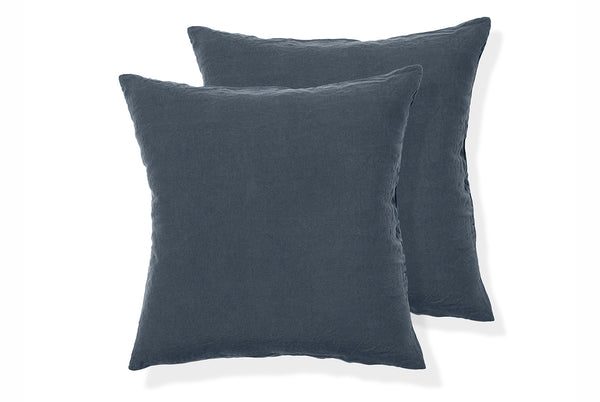 Linen Square Pillowcase Pair