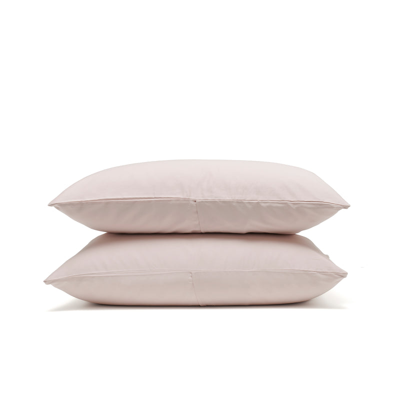 Dove grey luxe pillowcases, luxury bedding by Bedfolk