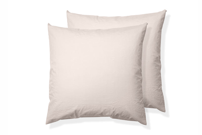 Relaxed Cotton Square Pillowcase Pair