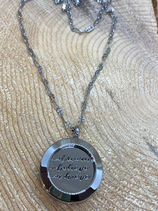 Dream Believe Achieve silver locket