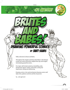 BART SEARS' DRAWING POWERFUL HEROES: BRUTES AND BABES