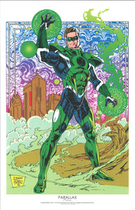 "GREEN LANTERN PARALAX ART PRINT 11""X 17"" BY DARRYL BANKS"