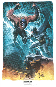 "BATMAN VS. BANE 11"" X 17"" LIMITED EDITION ART PRINT BY GRAHAM NOLAN AND NANJAN JAMBERI"