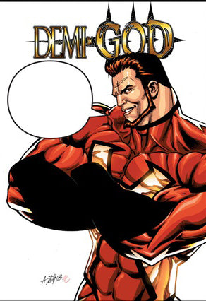DEMI-GOD #1 SGV WORD BALLOON VARIANT COVER