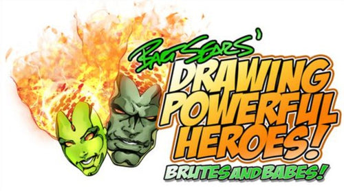 DRAWING POWERFUL HEROES STICKER