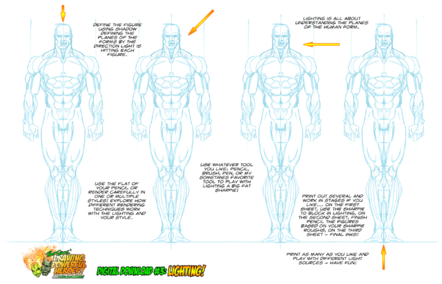 WORKSHEET #1 DRAWING POWERFUL HEROES - DIGITAL