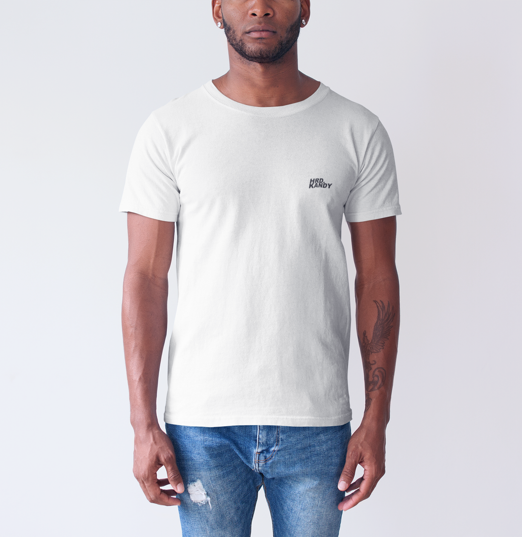 HRD. KANDY Mini Script T-Shirt, White
