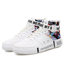 Load image into Gallery viewer, Graffiti HI-TOP Trainers, White