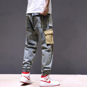 Denim Cargo Pants