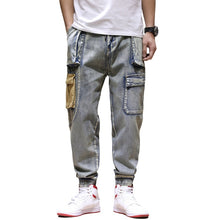 Load image into Gallery viewer, Denim Cargo Pants