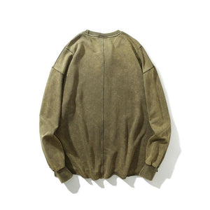 Distressed Sweatshirt, Khaki