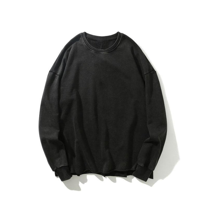 Distressed Sweatshirt, Black